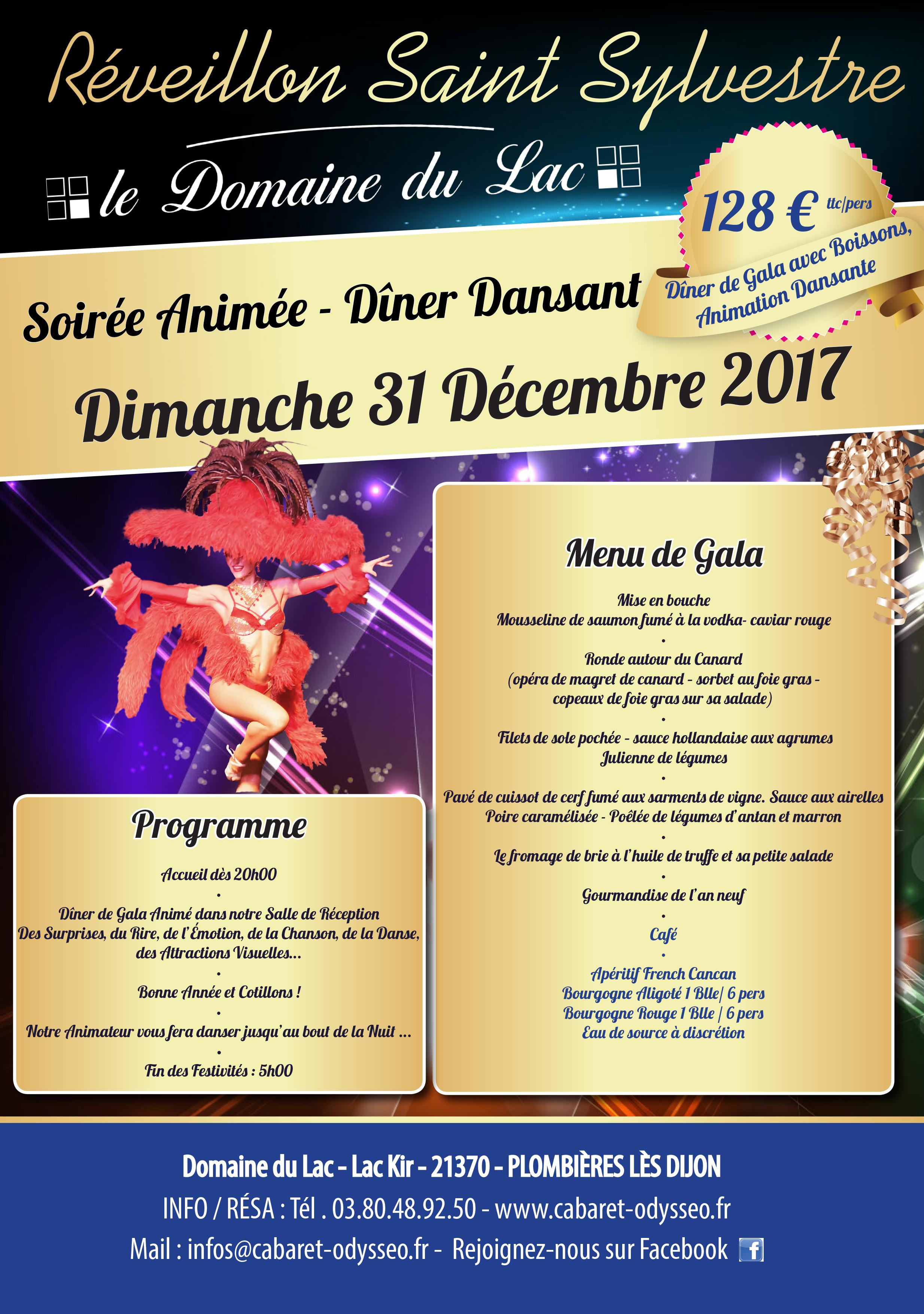 Offre Spéciale 31 Décembre Domaine du Lac Animation repas