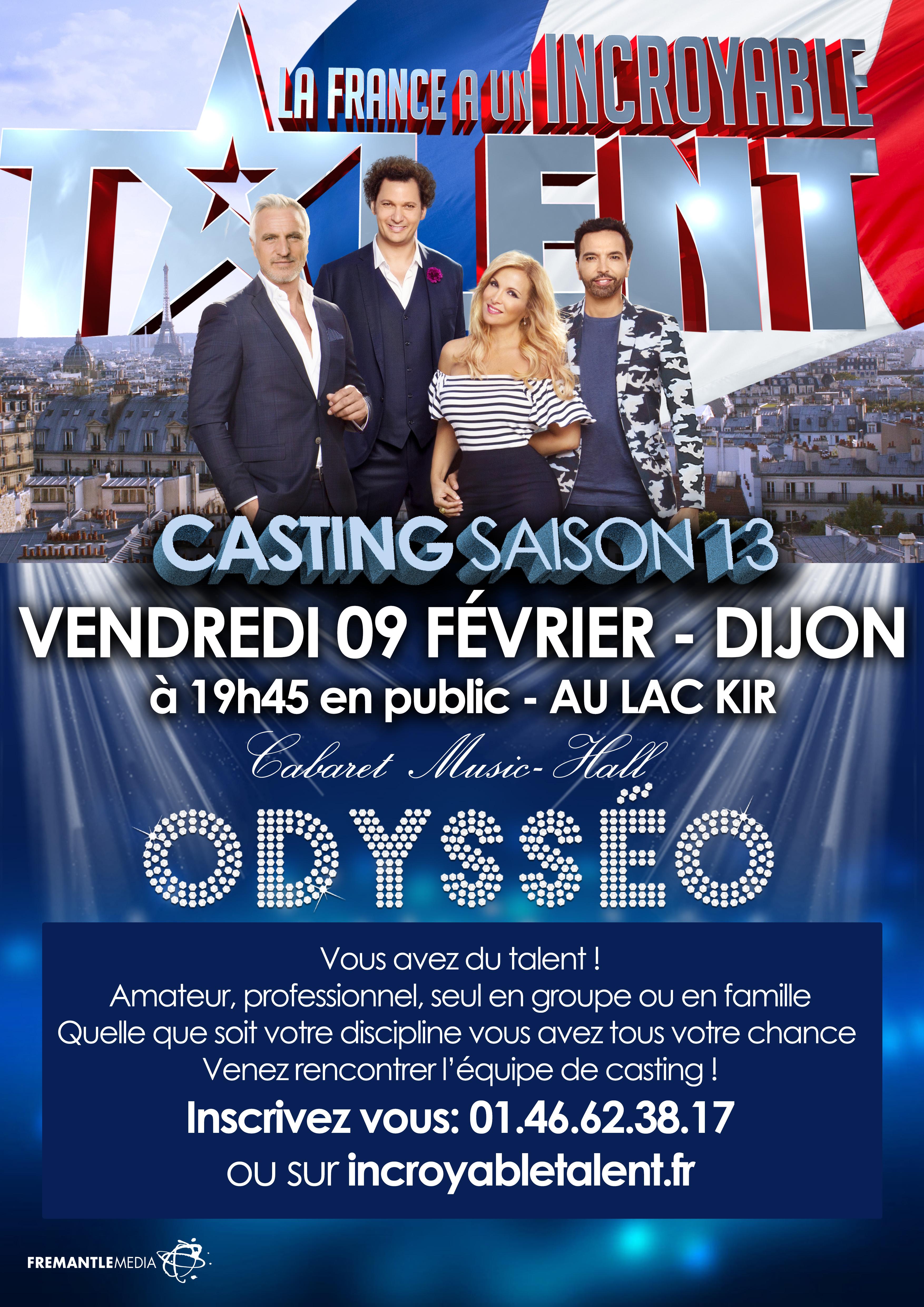 Casting La France a un incroyable Talent M6 Dijon Bourgogne