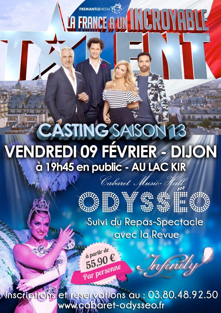 Casting La France a un Incroyable Talent + Repas-Spectacle Cabaret Dijon Bourgogne