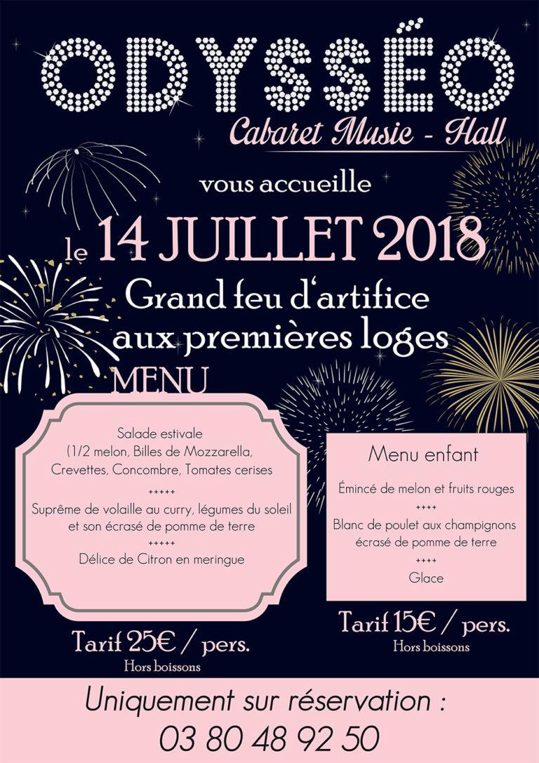 14 Juillet Dijon Repas + feu d'artifice lac Kir