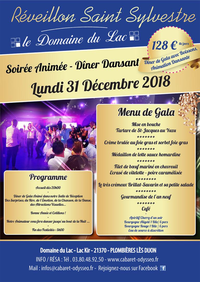 Réveillon Saint-Sylvestre 31 Décembre Diner Dansant