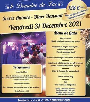Réveillon Saint-Sylvestre – Dîner Dansant – 31 Décembre 2021