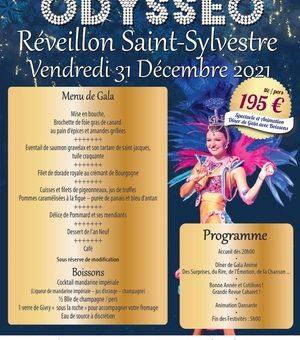 Réveillon Saint-Sylvestre – Repas-Spectacle – 31 Décembre 2021